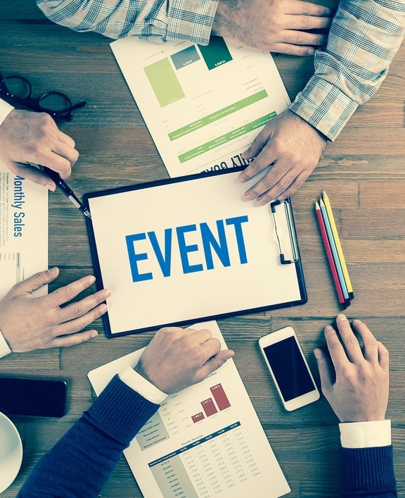 Event Planning with Team and Clipboard