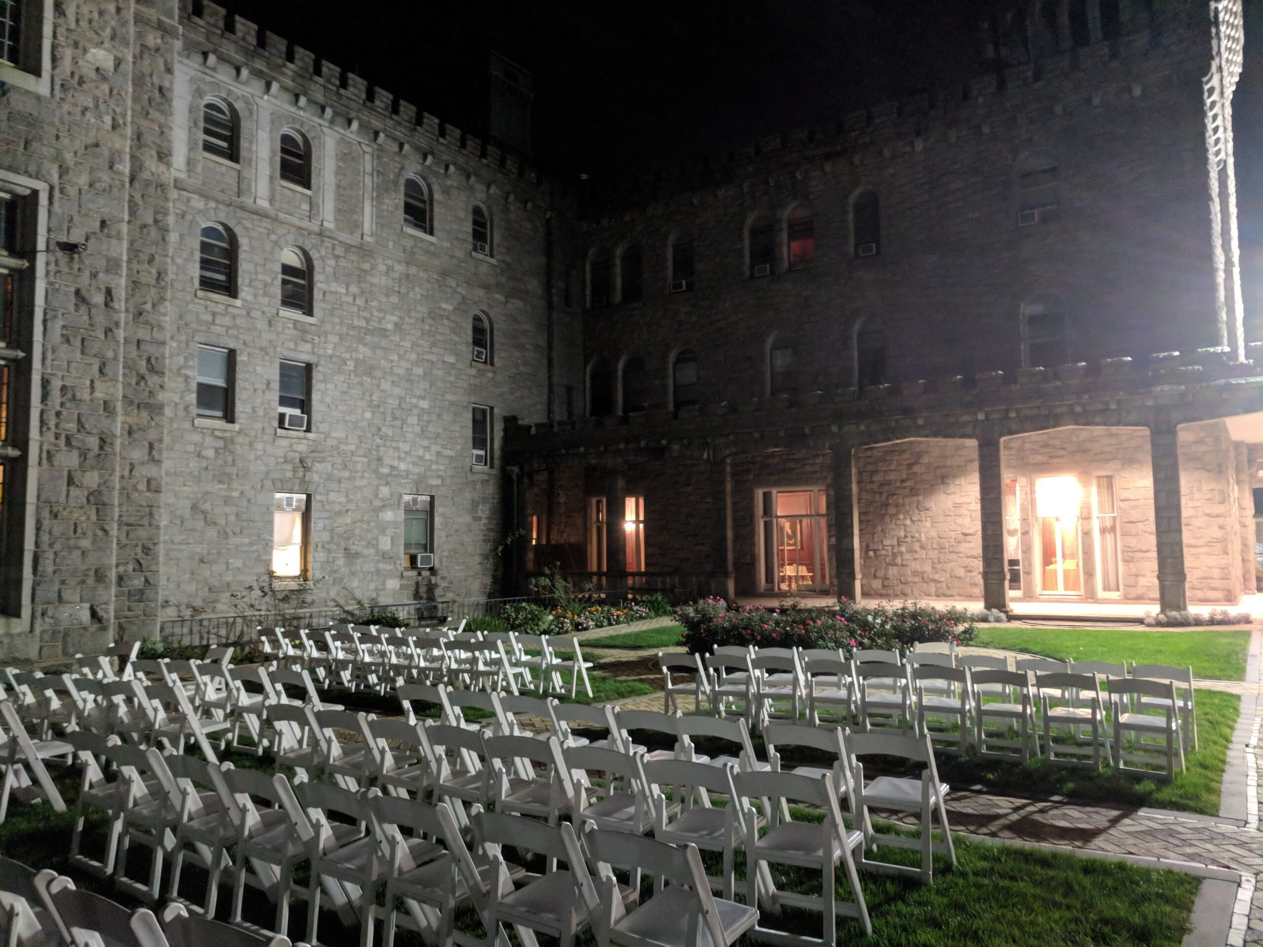 Ceremony Chairs for a Reid Castle Wedding