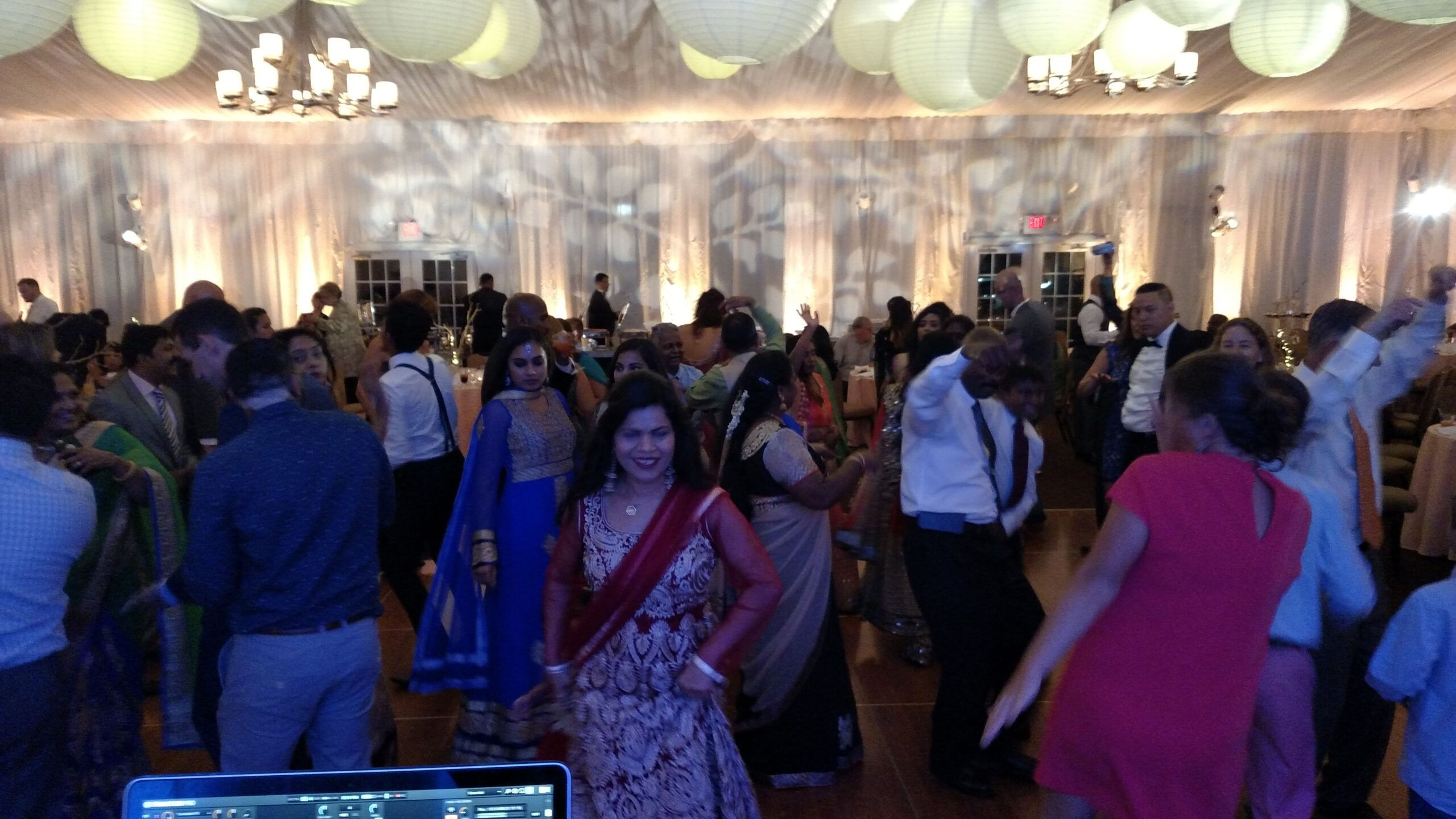 Dancefloor at Bollywood Greenwich Hyatt Wedding